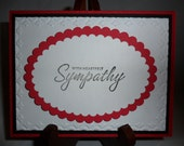 Red and Black Sympathy Card