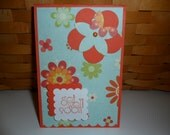 Blue and Orange Get Well Card Set - 5
