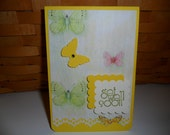 Yellow Butterfly Get Well Card Set - 5