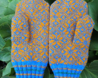Finely Hand Knitted Estonian Mittens FREE SHIPPING warm and windproof