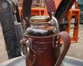 Steampunk Leather Armored Coffee Mug: Forkliftable