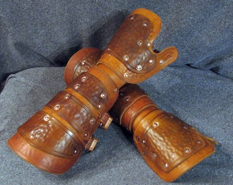 Plated Leather Gauntlets