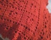 Christmas Red Crocheted Baby Blanket/Afghan