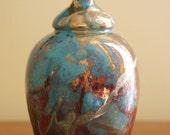 Handmade Raku Bottle