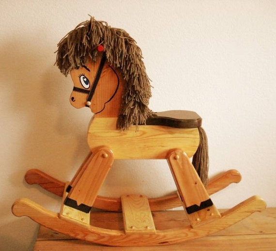 Wooden Rocking Horse ~ Handmade wooden rocking horse