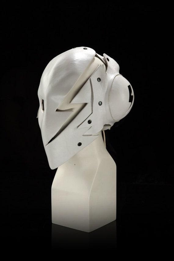 "Cosplay Hero Leather Mask ""White Lightning"""