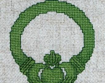 Claddagh Cross Stitch Pattern