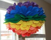 Rainbow Tissue Paper Pom Pom - Promise Me