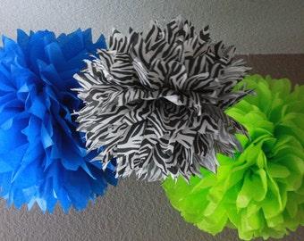 12 Tissue Pom Poms - Your Color Choice- SALE