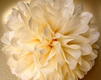 Tissue Paper Pom Pom - Large Simply Elegant French Vanilla Pom