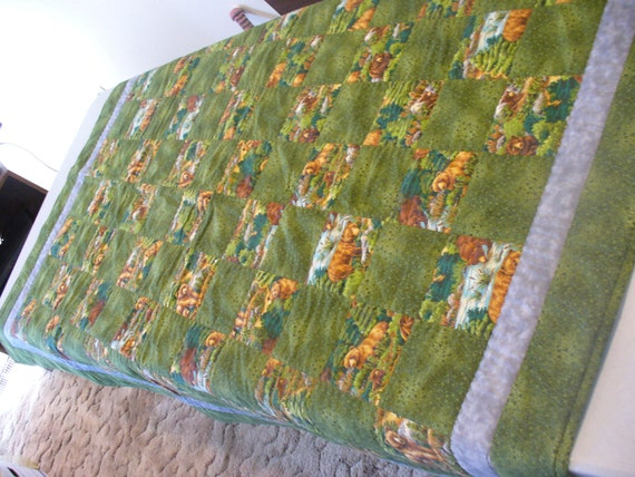 Bears in the Bushes Quilt Clearance Sale