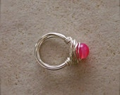 Pink (Moon) Agate Ring