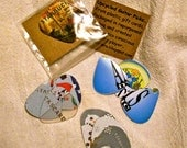 Upcycled Guitar Picks, Uniquely Packaged Set of 3