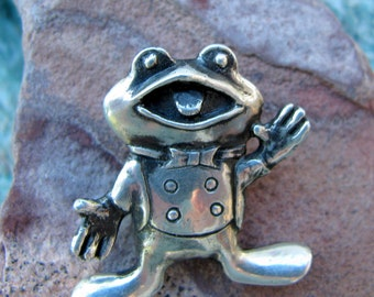 Froggy Pendant or  Sterling Silver