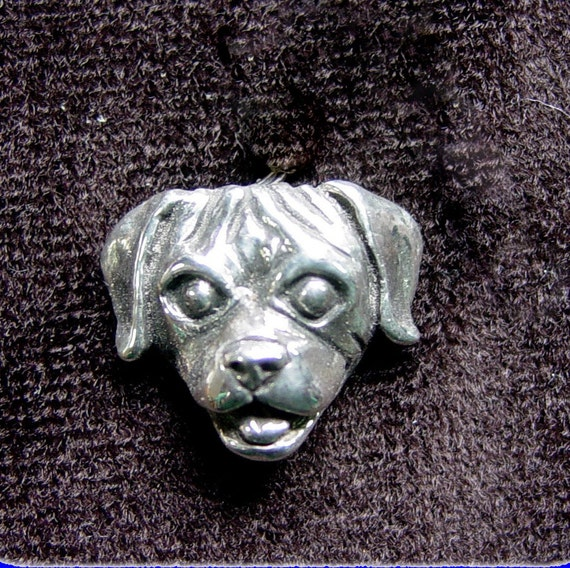 Puppy Dog Head Charm in Sterling Silver What a Great Pet Lover Gift