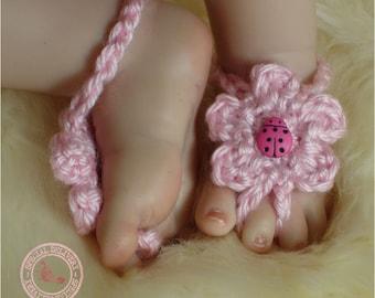 Baby Sandals, Baby Girl, Barefoot Sandals, Baby Bootie Sandals