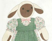"20"" Sheep Lamb DOLL & DRESS CLOTHES Fabric Panel - Stuffed Animal"