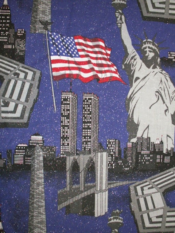 September 9 11 Twin Towers Fabric Pentagon Statue Of Liberty