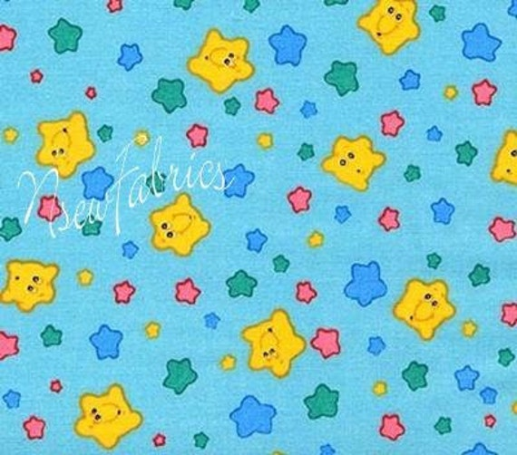CARE BEAR Fabric Care A Lot Smiley Face Star