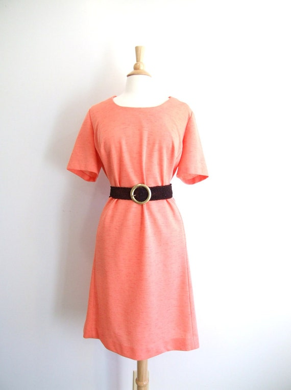 Plus Size Dress Pastel Peach Summer Dress - 3XL