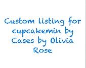 Custom Listing for cupcakemin from Instagram