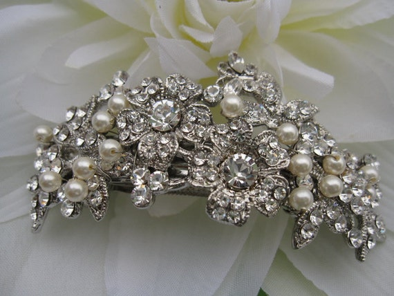 Vintage Inspired bridal hair comb,bridal hair clip,wedding hair clip,wedding headpiece,bridal hair piece,pearl headpiece,wedding barrette