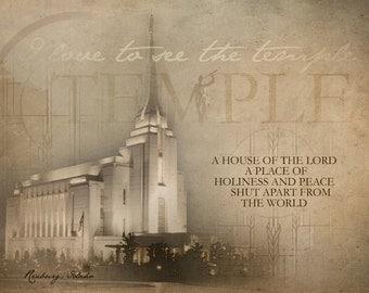 Rexburg Idaho LDS Temple Print 16x20