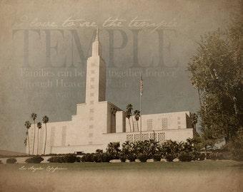 Los Angeles LDS Temple Print