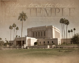 Mesa, Arizona LDS Temple Print
