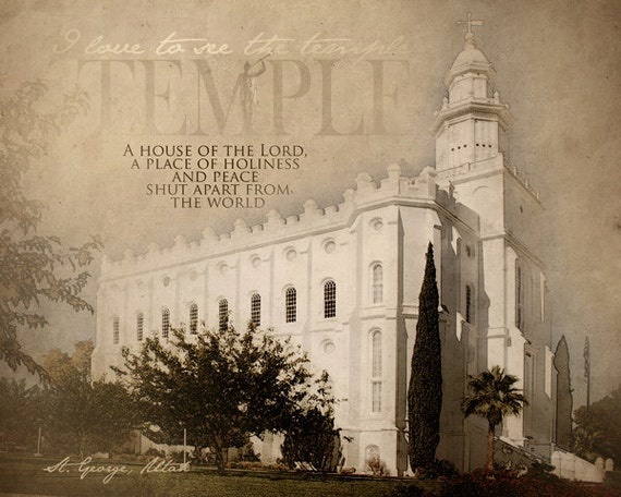 St. George LDS Temple Print 16x20