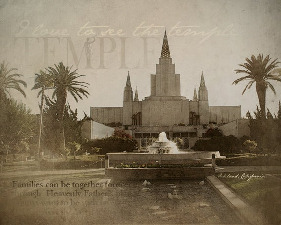 Oakland, California LDS Temple Print 16x20