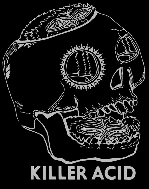 Killer Acid Classic Black Melted Tshirt