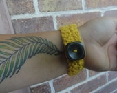 Mustard Yellow Four Strand Bracelet