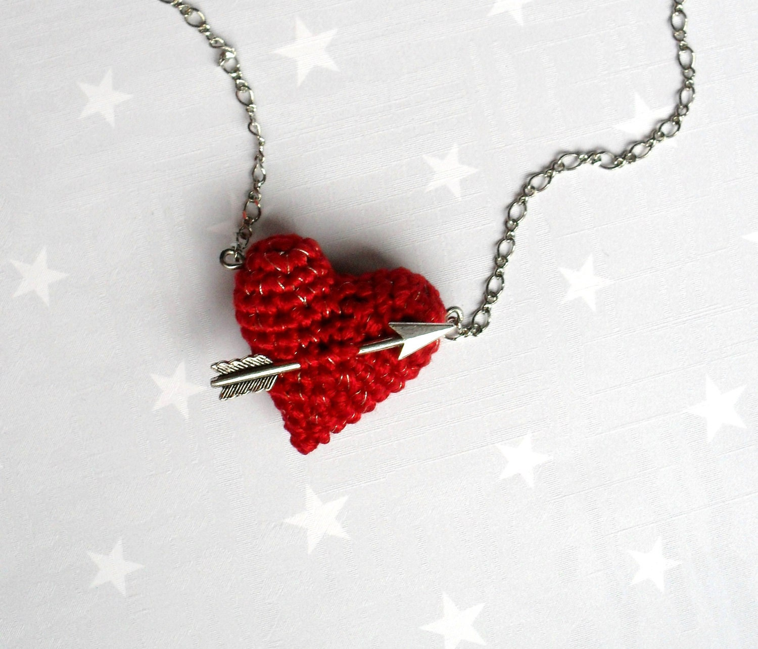 Free Crochet Heart Necklace Pattern : Red Heart Necklace www.galleryhip.com - The Hippest Pics
