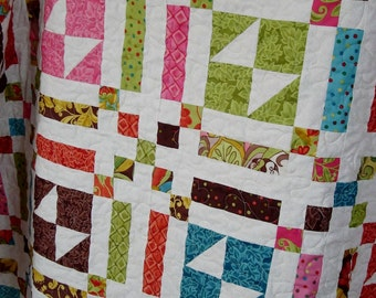 Easy PDF INSTANT DOWNLOAD  Layer Cake Quilt Pattern  -  Butterfly Fancys - Throw Size
