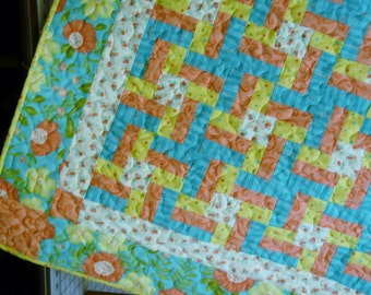 Quilt Pattern  - Lovely Little Pinwheels Crib or Throw Quilt Pattern very Quickand Easy PDF INSTANT DOWNLOAD
