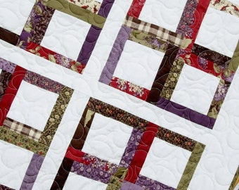 Quilt Pattern - Chelsea Morning Quilt PaTTerN - Multiple Sizes - Layer Cake- Honey Bun or Scraps