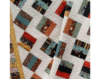 Easy Quilt Pattern: Jelly Brique Road - Jelly Roll  QuiLt PaTTerN - Baby to King Size -