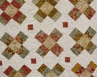 Gracie Square QuiLt PaTTerN - 5 sizes - Baby to King  - Jelly Roll - Layer Cake -Charm Square - Fat Quarter Friendly