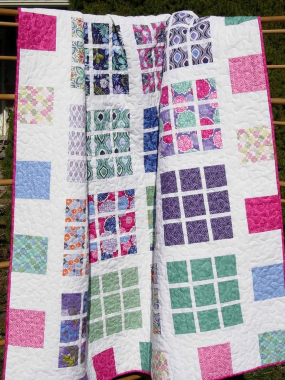 Easy Quilt Patterns With Layer Cakes : Quilt Pattern Easy Layer Cake Fat Quarter Friendly