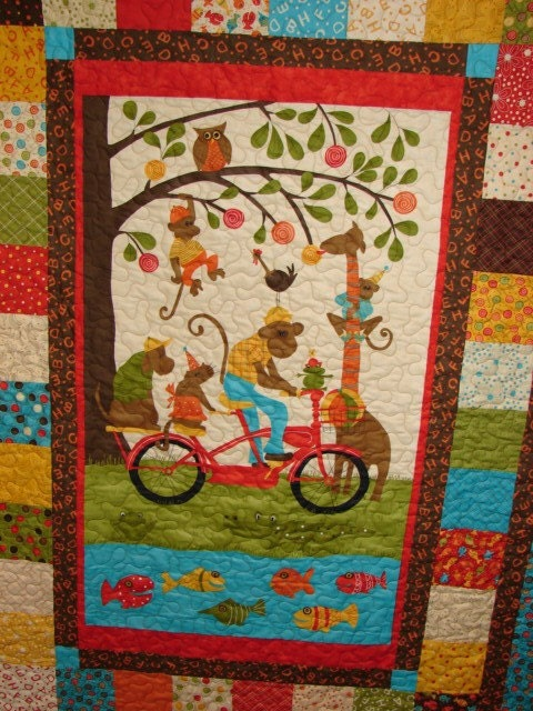 Quilt Patterns Throw Or Crib Size Simply Charming Panel
