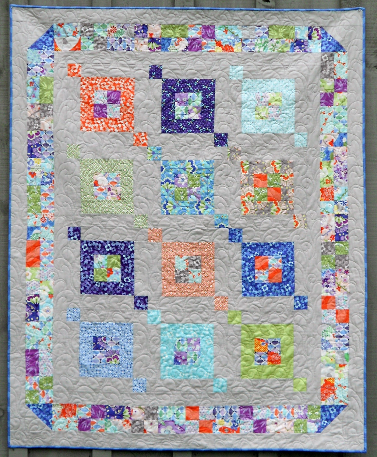 Crib Quilt Size: Modern Quilt Pattern Fair & Square Sizes Crib To Queen