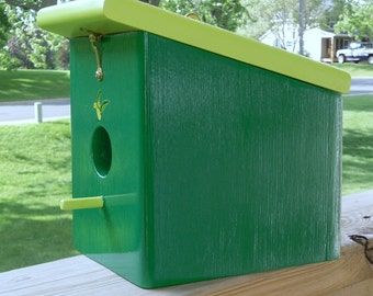 Green Meadow Keylime Hanging Birdhouse Handmade