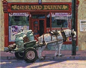 Color Print of Oil Painting, Irish Scene 1, Ireland
