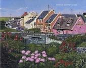 Color Print of Oil Painting, Doolin Irish Scene 137, Ireland