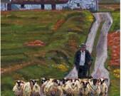 Color Print of Oil Painting, Shepherd Cottage Irish Scene 138, Ireland