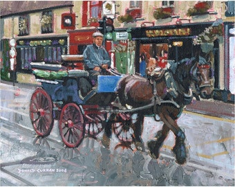 Color Print of Oil Painting, Irish Scene 5, Ireland