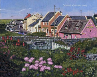 Color Print of Oil Painting, Doolin Irish Scene 137, Ireland