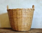 Vintage European Basket .. French Laundry