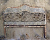 Vintage White Wicker Head Board .. To Sleep To Dream